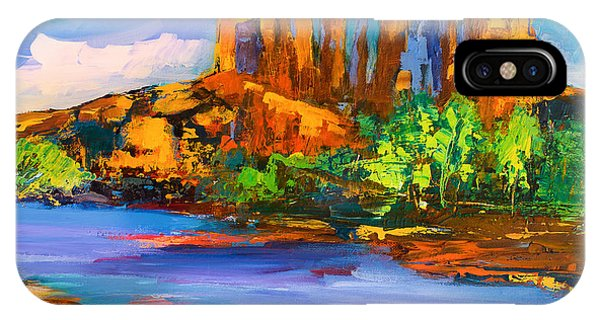 Fauvism iPhone Case - Cathedral Rock Afternoon by Elise Palmigiani
