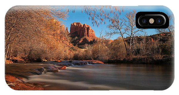 Creek iPhone Case - Cathedral Rock Sedona Arizona by Larry Marshall