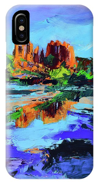 Fauvism iPhone Case - Cathedral Rock - Sedona by Elise Palmigiani