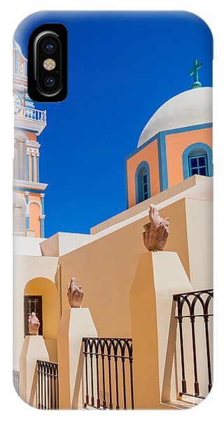 Greece iPhone Case - Catholic Cathedral Church Of Saint John The Baptist by Inge Johnsson