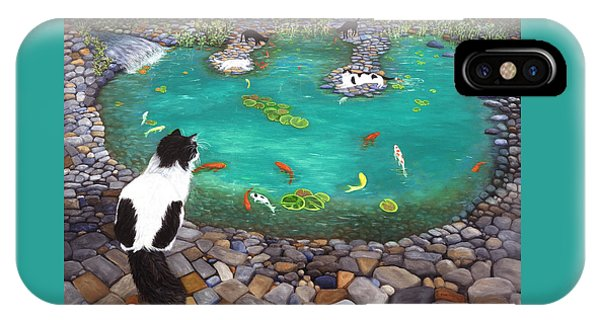 Cats And Koi IPhone Case