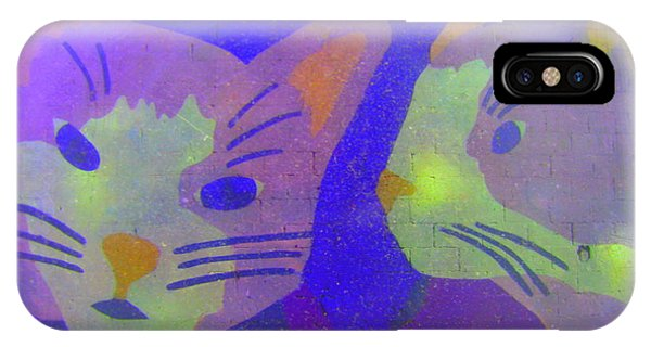 Cats On A Wall IPhone Case