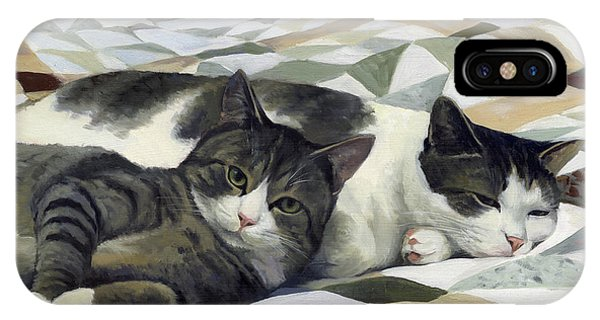 Cats On The Quilt IPhone Case