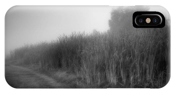 IPhone Case featuring the photograph Cattails In The Fog by Michael Colgate