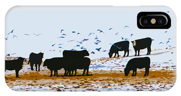 Cattle And Birds IPhone Case