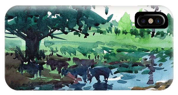 Cattle In The River IPhone Case