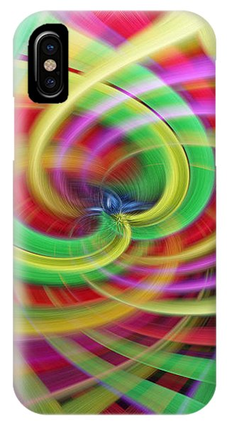 Caught Up In A Colorful Swirl IPhone Case