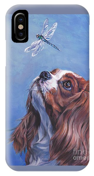 King Charles iPhone Case - Cavalier Curiosity by Lee Ann Shepard