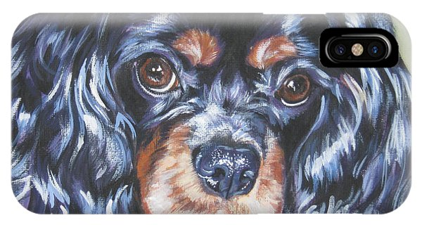 Cavalier King Charles Spaniel Black And Tan IPhone Case