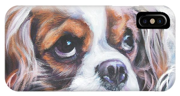 King Charles iPhone Case - Cavalier King Charles Spaniel Blenheim by Lee Ann Shepard