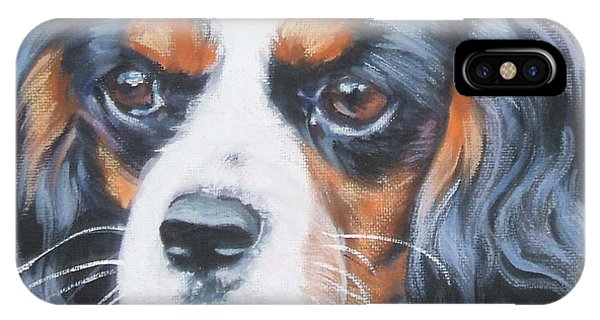 King Charles iPhone Case - Cavalier King Charles Spaniel  by Lee Ann Shepard