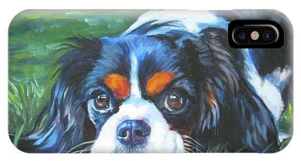King Charles iPhone Case - Cavalier King Charles Spaniel Tricolor by Lee Ann Shepard