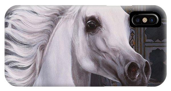 White Horse iPhone Case - Cavallo A Punta by Guido Borelli