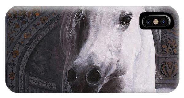 White Horse iPhone Case - Cavallo Col Ciuffo by Guido Borelli