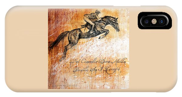 Cavallo Contemporary Horse Art IPhone Case