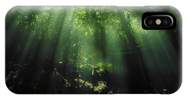Green iPhone Case - Cave Diving In Mexico by Christine Till