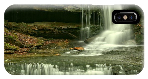 Somerset County iPhone Case - Cave Falls Gentle Cascades by Adam Jewell