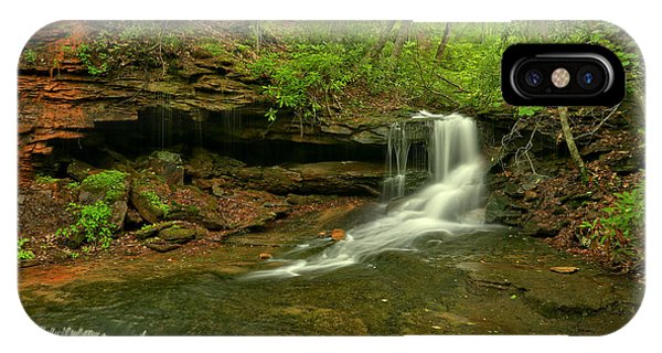 Somerset County iPhone Case - Cave Falls Of Somerset County by Adam Jewell