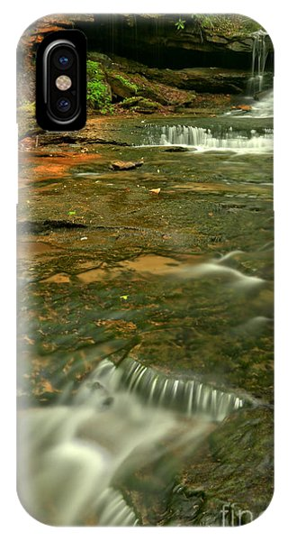 Somerset County iPhone Case - Cave Falls Portrait by Adam Jewell