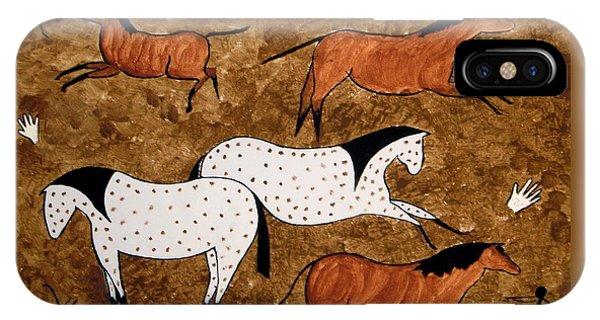 Cave Horses IPhone Case