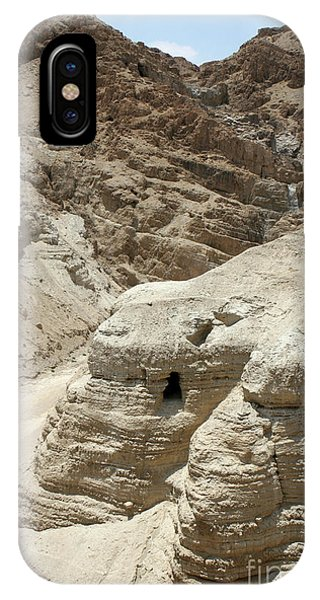 IPhone Case featuring the photograph Caves Of The Dead Sea Scrolls by Steven Frame