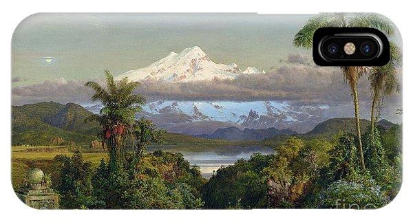 Mountainous iPhone Case - Cayambe by Frederic Edwin Church
