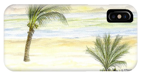 IPhone Case featuring the digital art Cayman Beach by Darren Cannell