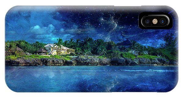 Carribbean iPhone Case - Cayman Nightscape by Betsy Knapp