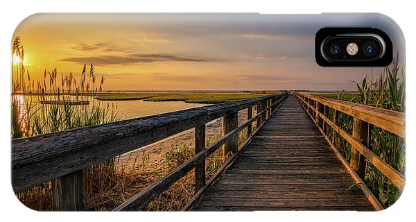 Cedar Beach Pier, Long Island New York IPhone Case