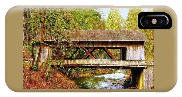 Cedar Creek Grist Mill Covered Bridge IPhone Case