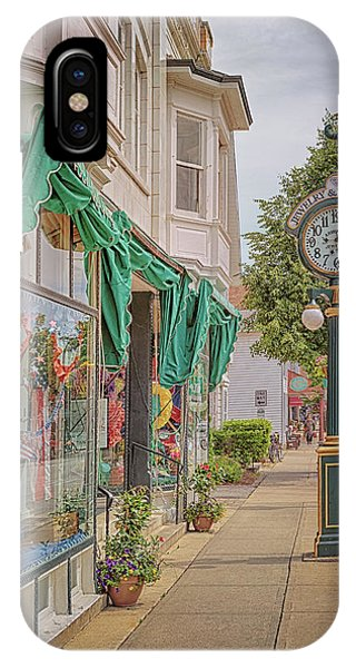 Cedarburg Street Clock IPhone Case