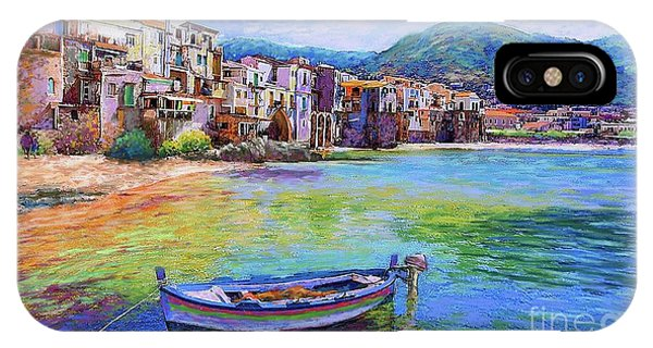 Colourful iPhone Case - Cefalu Sicily Italy by Jane Small