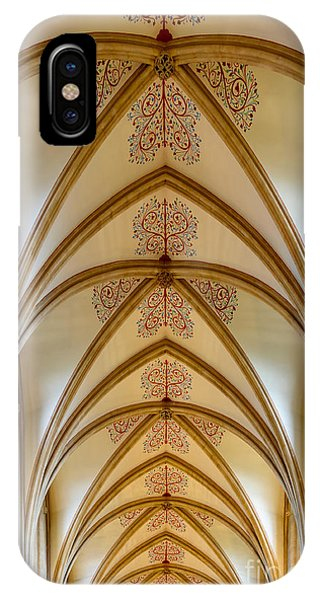Ceiling, Wells Cathedral. IPhone Case