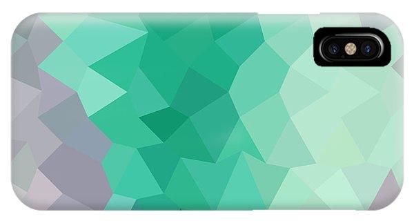 Celadon Green Abstract Low Polygon Background Phone Case by Aloysius Patrimonio