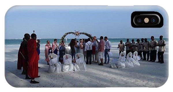 Exploramum iPhone Case - Celebrate Marriage On The Beach by Exploramum Exploramum