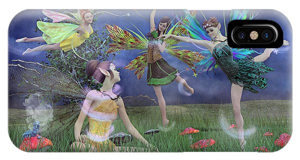 Elf iPhone X Case - Celebration Of Night Alice And Oz by Betsy Knapp