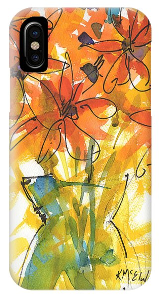 Celebration Of Sunflowers Watercolor Painting By Kmcelwaine IPhone Case