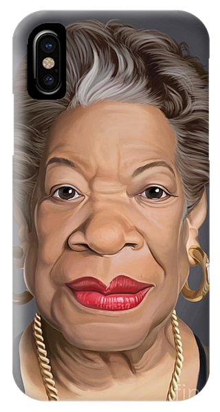 Celebrity Sunday - Maya Angelou IPhone Case