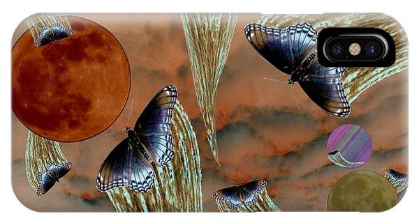 Celestial Butterflies IPhone Case