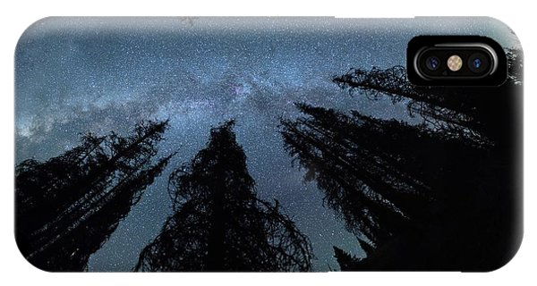 IPhone Case featuring the photograph Celestial Starlight In The Forest Near  Lake Irene Colorado by OLena Art Brand