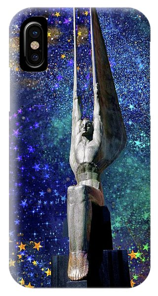 Celestial Winged Figures Of The Republic IPhone Case