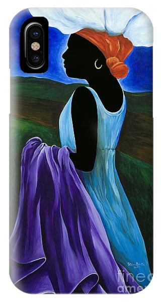 Costumed Figures In Landscape iPhone Case - Celimene by Patricia Brintle