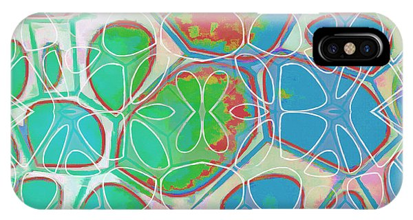 Blue iPhone Case - Cell Abstract 10 by Edward Fielding