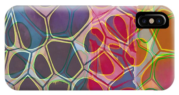 Decorative iPhone Case - Cell Abstract 11 by Edward Fielding