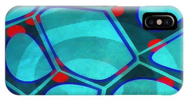Blue iPhone Case - Cell Abstract 6a by Edward Fielding