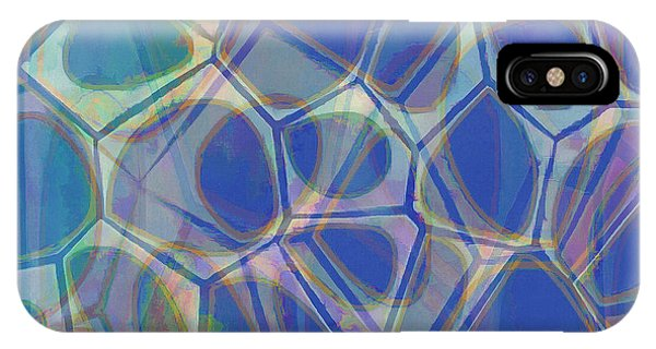 Blue iPhone Case - Cell Abstract One by Edward Fielding