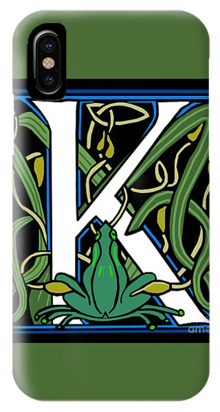 Celt Frog Letter K IPhone Case