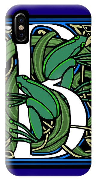 Celt Frogs Letter B IPhone Case