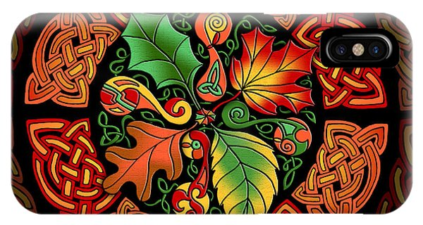 Celtic Autumn Leaves IPhone Case