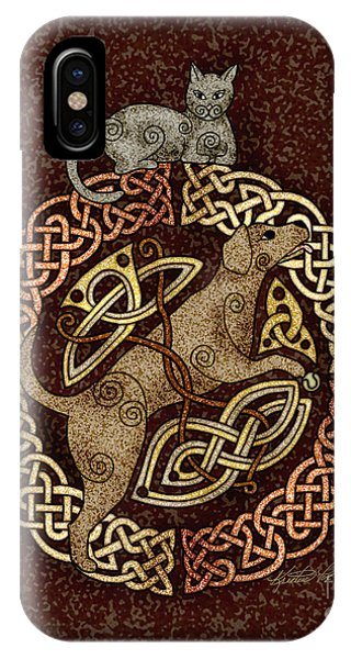 Celtic Cat And Dog IPhone Case